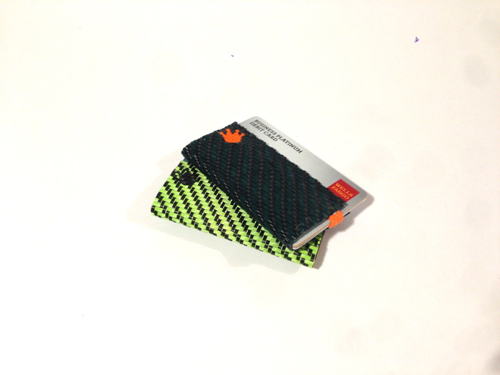 Lime Green/Green/Black Carbon Fiber Minimalist Wallet