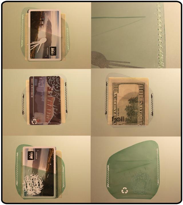 second prototype vinyl wallets