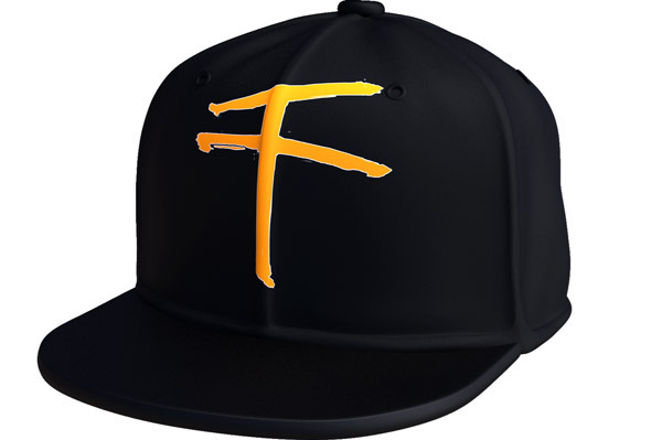 A black, embroidered snapback cap with the 1000 logo.