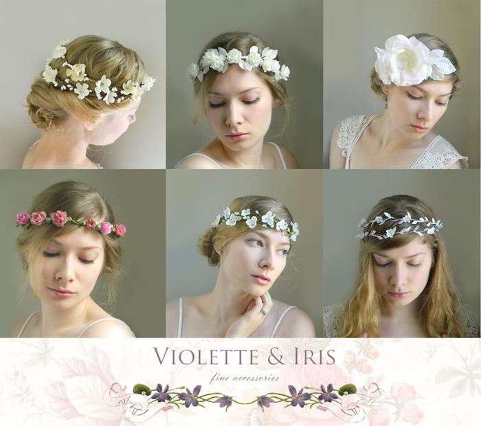 These are just a few examples of headpieces I've made for brides. As a backer of $350 or more I will work with you to create a custom headpiece/s. Have a look at violetteandiris.etsy.com for more.
