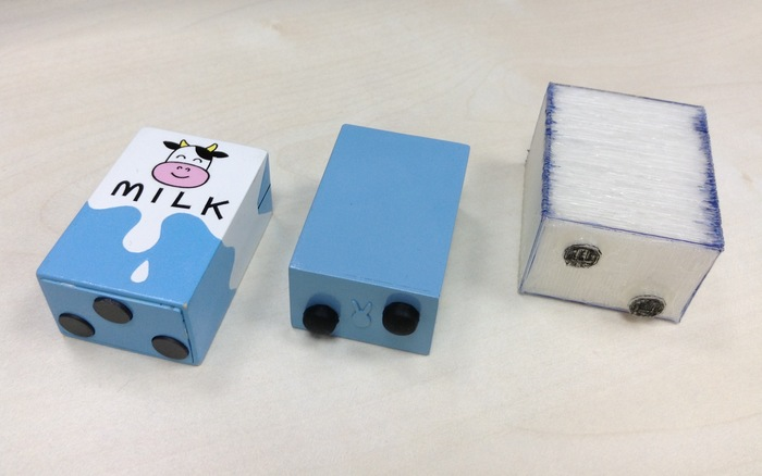 Milk toys: Functional prototypes and an early 3D-printed model