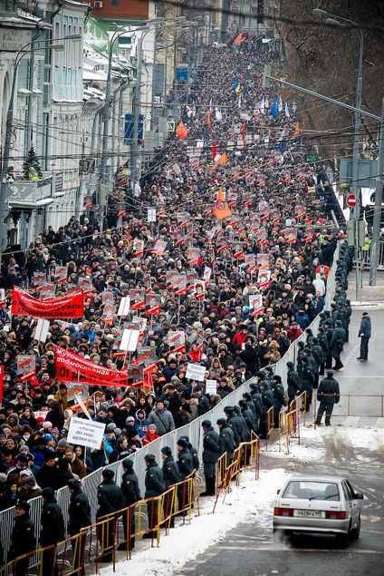 Thousands of Russians 'March Against Scoundrels' in response to the adoption ban