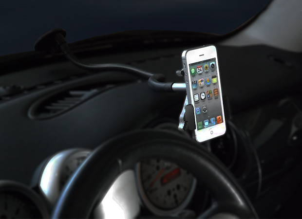 Position your phone exactly where you want it - CelGo contours to any dashboard for total stability