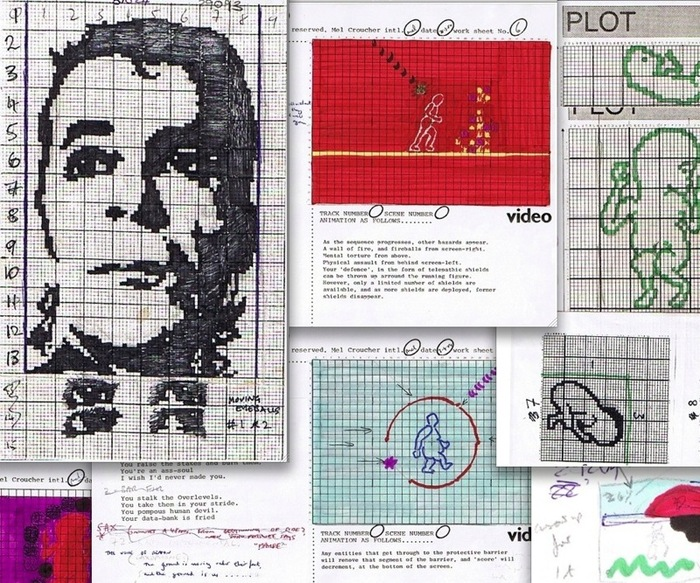 ... and collector's artwork and storyboards from the original 1984 game.