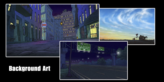 "Background art from ""Dawgtown""."