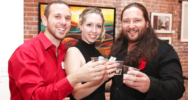 Bradley Scherzer (left), Amber LeFever (middle), Adam Soboleski (right) Photo by Kara Fallon