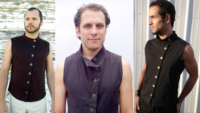 $110~ The brand new MENS Nehru Vest, with special buttons just for the kickstarter version. This is the launch of this vest, and the first vest going through full production. Strong angeled line down front with beautiful unique metal buttons. Black.
