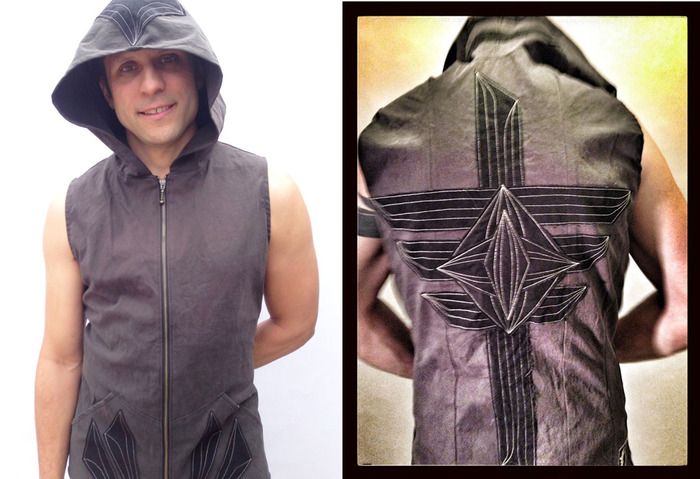 another shot of the mens hooded vests