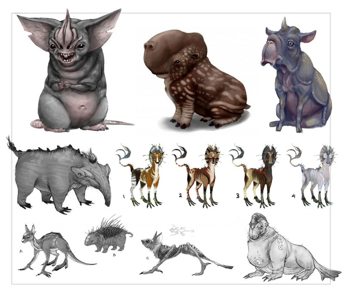 Every creature in the film is designed from scratch by our team