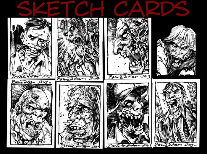 Sketch Cards are unique. You can see some pencil art under the inks.
