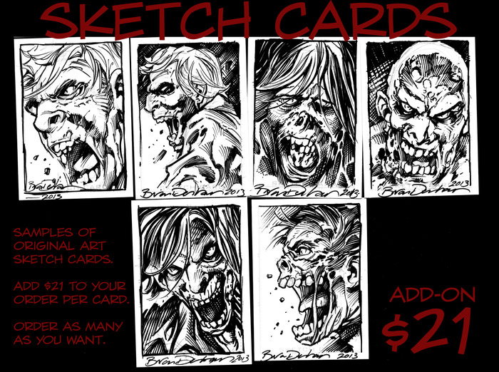 Sketch Cards are highly collectible. You can buy multiple cards.