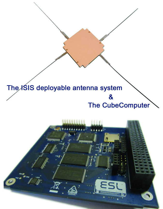 Upgrades!!! Pictured above is the ISIS deployable antenna (spring loaded, it will extend once in orbit), and the CubeComputer (specifically built for space) which will control operations on board the TARDIS