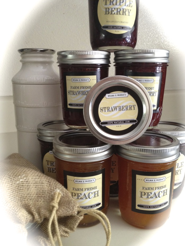 Fresh house-made jams with locally grown fruit.