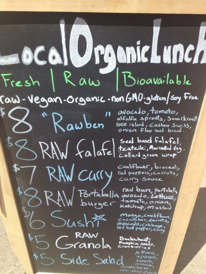 Serving food under our old name, Local Organic Lunch