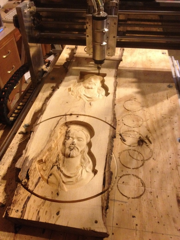 Prototype cnc cutting religious relief