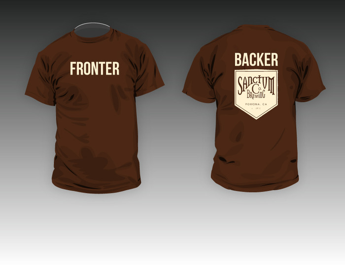 With this tee you'll never forget your support for Sanctum...or which way to put the shirt on!