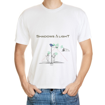 Simple sketch of the Shadows and Lights T-shirt - real design pending