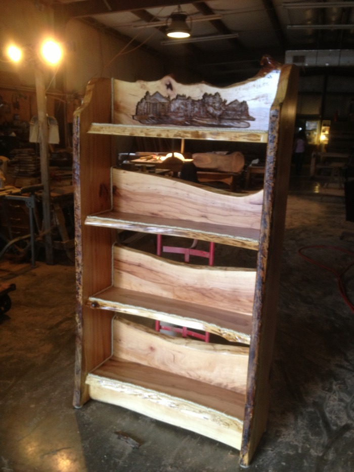 Rustic Bookshelf - $1500 Pledge