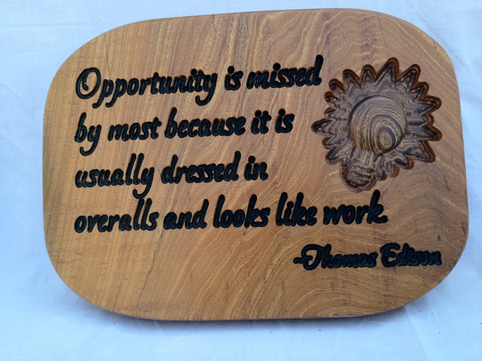 Edison Quote Plaque - $75 Pledge