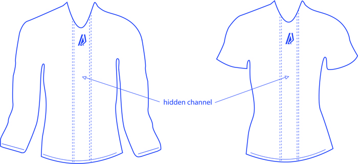 Women's StreamLine Shirts with Hidden Channels