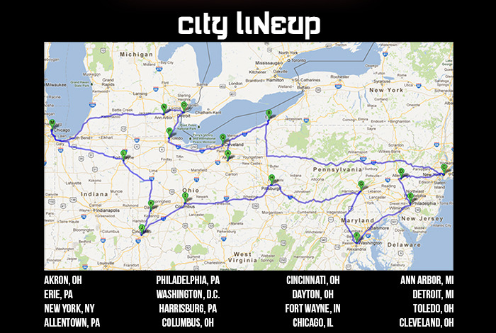 "The Prospective Cities for ""The Take-Off Tour"""