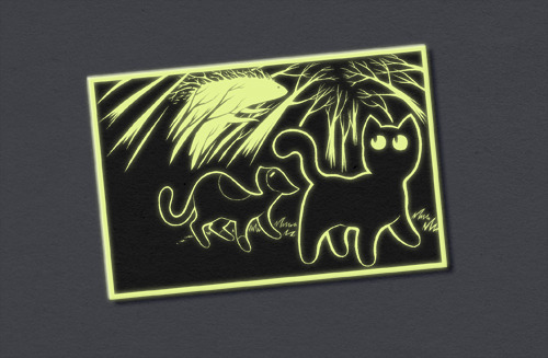 A Mockup of the Glow-in-the-dark Stickers!
