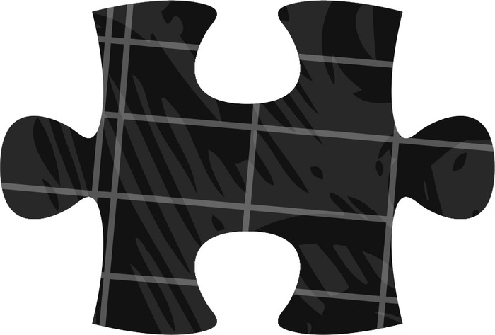 A sample puzzle piece with artwork.