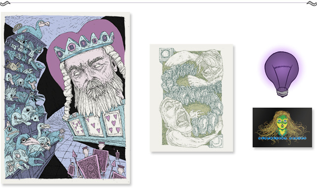 "Pledge $70 - ""Of cabbages and kings"" One large 18 x 24"" and one small 8 1/2 x 11"" screen prints of your choice"