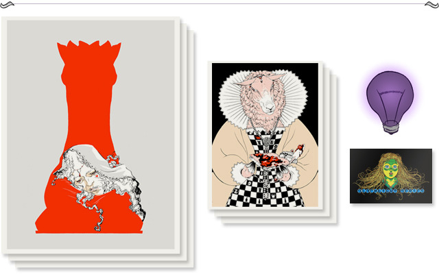 "Pledge $170 - ""Why, sometimes I've believed as many as six impossible things before breakfast."" Three large 18 x 24"" and three small 8 1/2 x 11"" screen prints of your choice"