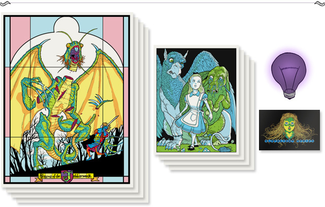 "Pledge $220 - ""Curiouser and curiouser"" Four large 18 x 24"" and four small 8 1/2 x 11"" screen prints of your choice"
