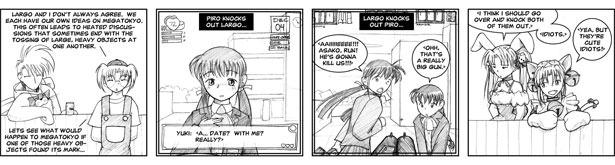 """Megatokyo comic [0051] - """"Naze Nani: what if..."""""""