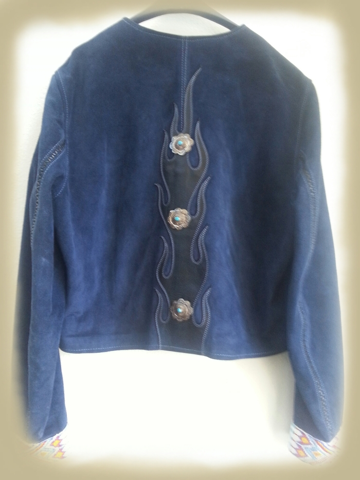 Back of Blue Suede Jacket
