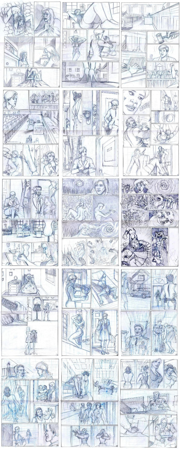 Pages Penciled by Milan Andjelkovic