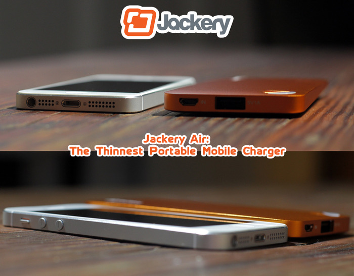 Jackery Air: The World's Thinnest Premium Portable Mobile Charger