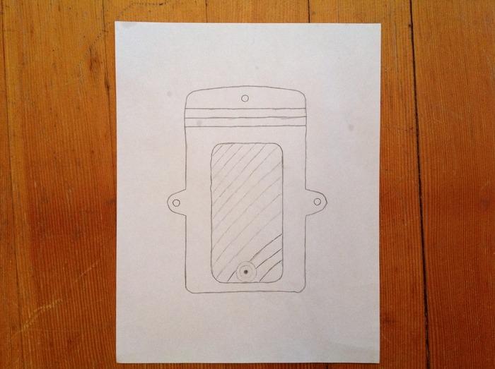 First Sketch Of The Bullseye Bag