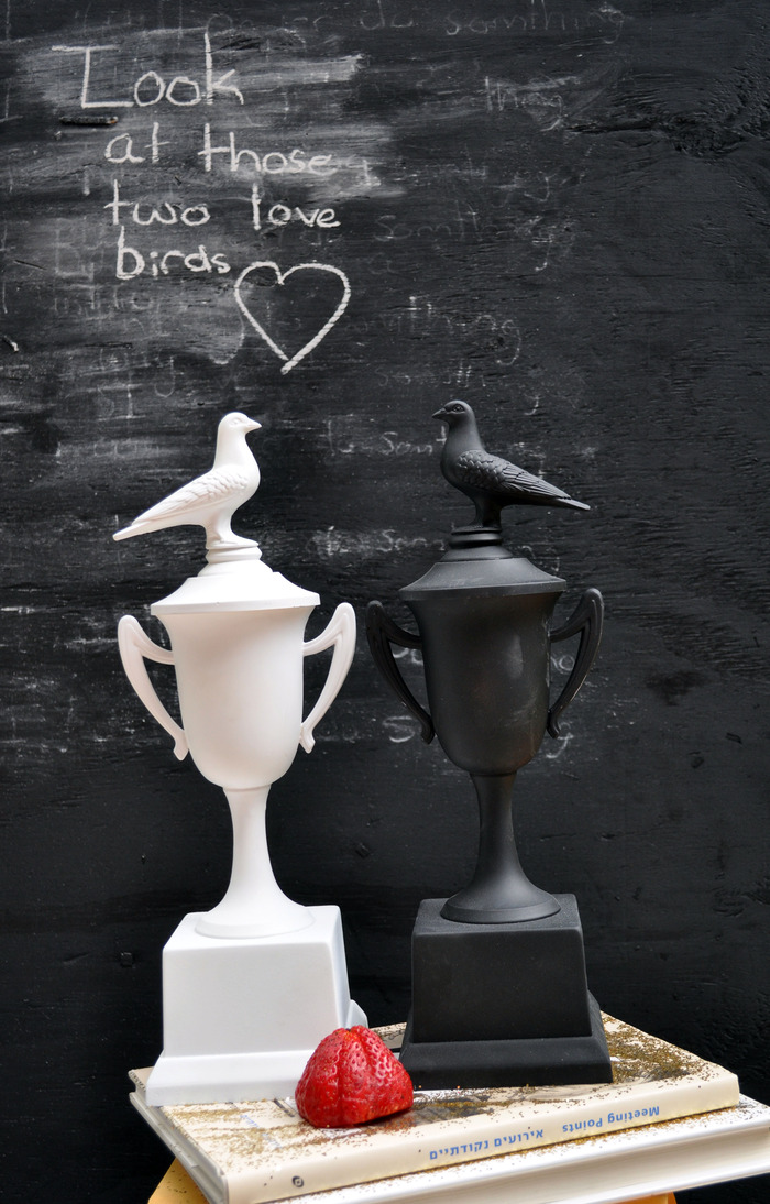 """True Love"" trophies (pair)"