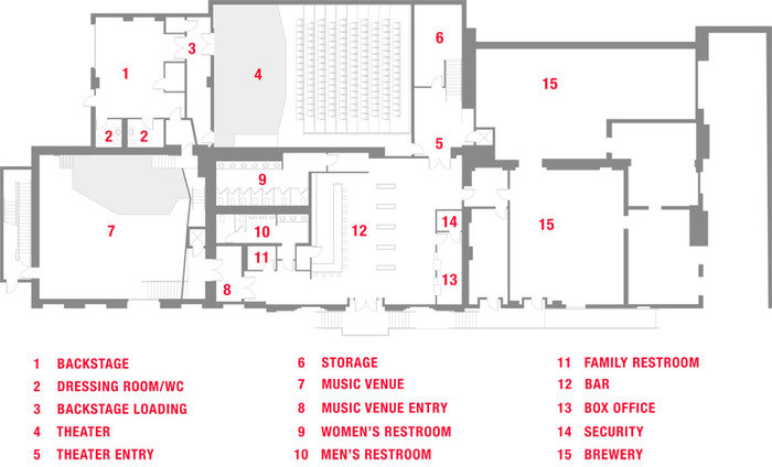 Proposed main level floor plan