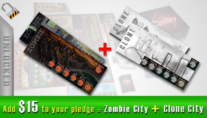 $15 - Zombie City and Clone City