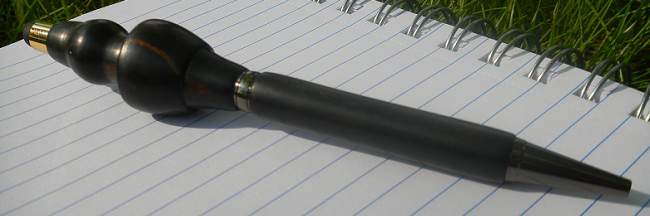 The Rapier Pen-Stylus, made of Ebony Wood, with Gunmetal and Gold Hardware