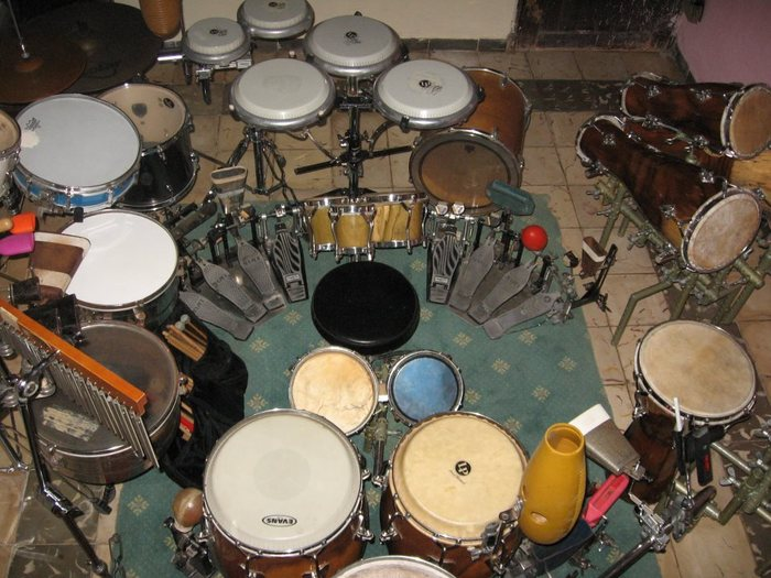 El Capitan's Drum kit set-up