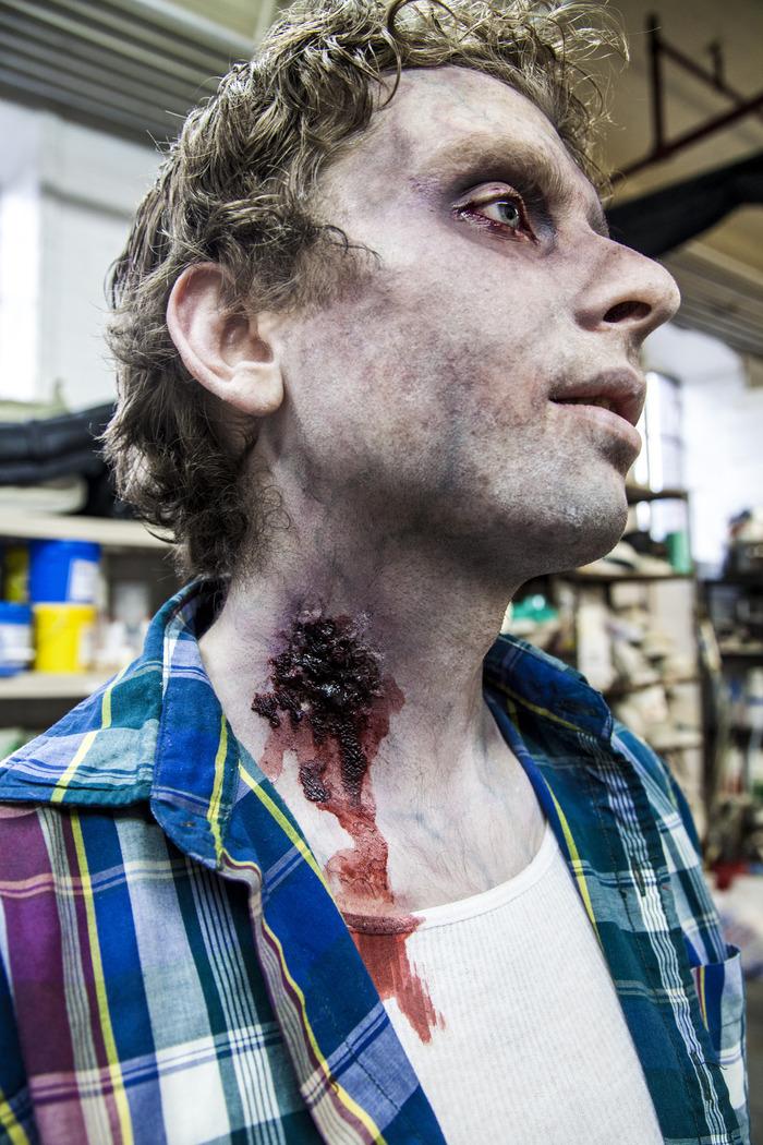 "Gotham FX Zombie Makeup Test for ""Fairfield"""