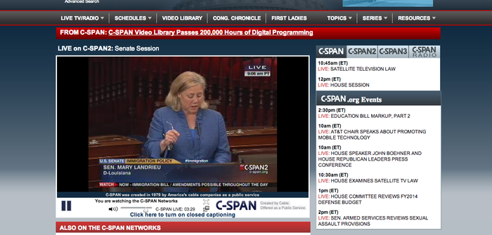 Senator Mary Landrieu introducing amendment #1222 to the Comprehensive Immigration Reform Bill. The amendment will give retroactive citizenship to all adoptees.