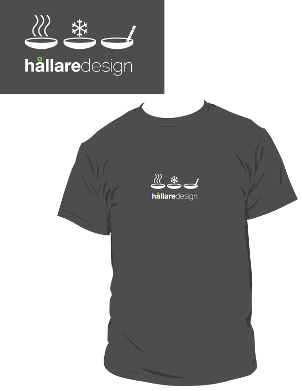 Limited edition Hallare Design cup holder icons t-shirt.