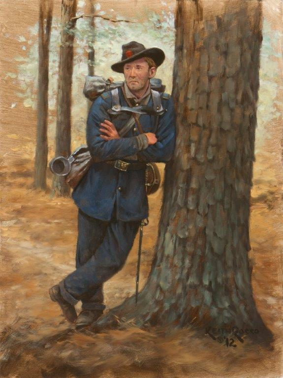 "Rocco's ""Iron Brigade Officer"" is the other special giclée print available at the BRIGADIER GENERAL pledge level."