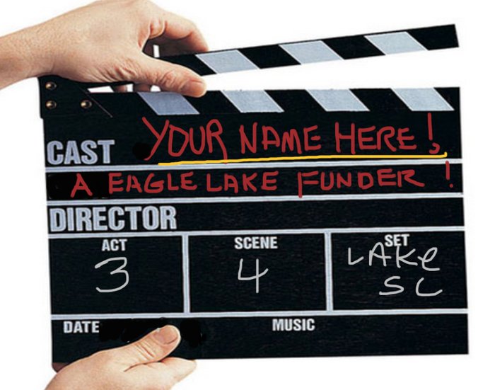 MOVIE SLATE PHOTO WITH YOUR NAME
