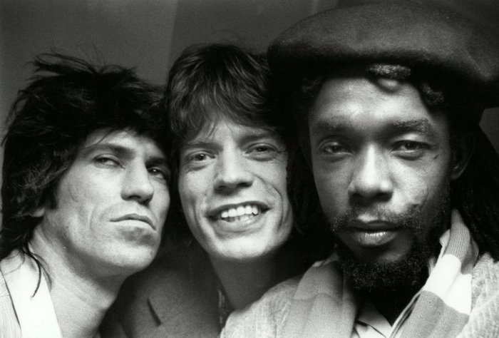 Keith Richards, Mick Jagger and Peter Tosh