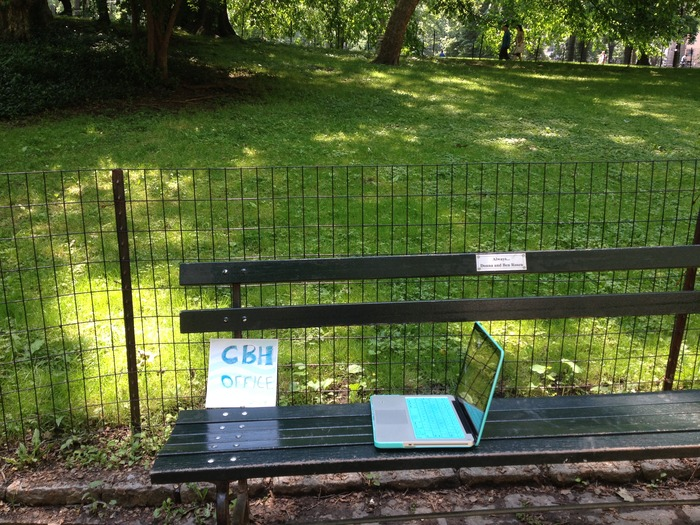 CBH Office - a random bench, Central Park, New York