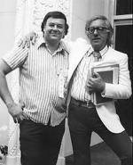 Shel Dorf and Ray Bradbury courtesy of shel archives