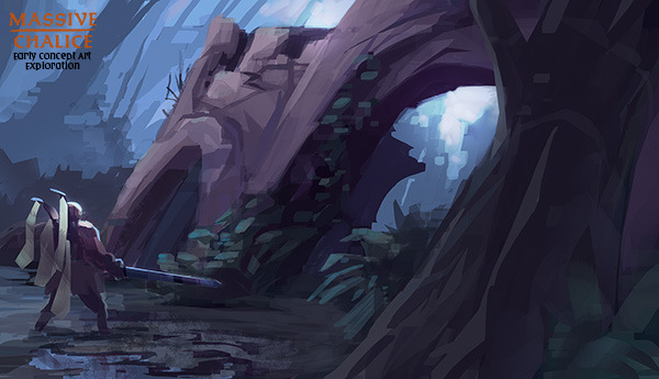 Forest environment (early concept) - click for Hi-Res version