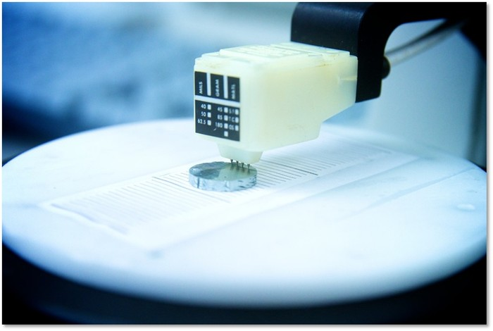 MicroPower wafer under test